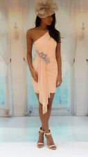 Wedding guest/special occasion/party One shoulder embellished dress