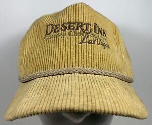 Vintage Desert Inn Las Vegas Cap Golf Country Casino Club Hat Imperial Corduroy