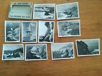 N°61 - pochette 10 PHOTOS anciennes bretagne pointe du raz années 40 50 audierne