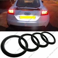 New Black Glossy Rear Boot Badge Rings Logo for Audi A1 A2 A3 A4 A5 A6 192x62mm