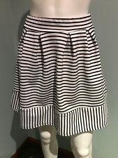 BOOHOO Skirt Size 8 White Black Evening Dinner Date Party (#177)
