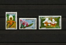 (YYAZ 741) Laos 1972 MNH Mich 338 - 340 Flowers Indochina Airmail