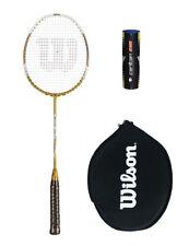 Wilson Recon Gold Badminton Racket + 6 Shuttles RRP £170