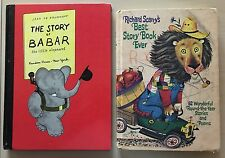 Lot of 2 Vintage Children's Books Richard Scarry Best Book Ever & Story of Babar