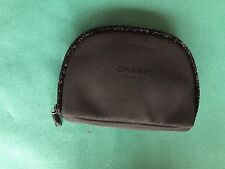 "CHANEL Beaute BLACK VIP COSMETIC Case Petite Metallic Trim 5 -1/2' x 4"" x 1-1/4"""