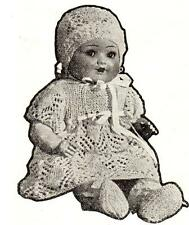 """1940's VINTAGE BABY DOLL 18""""/ 2ply  - COPY doll knitting pattern"""