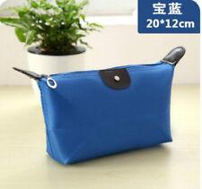 Hot New Women's Blue Makeup Bag canvas Case Pouch Purse Handbag wallet bags