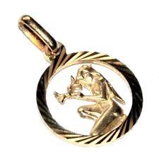 Pendentif médaille de couleur or signe zodiaque vierge bijou pendant