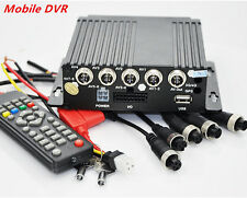 Mobile HD DVR Realtime Video/Audio Recorder SD Card Remote SW-0001A 4CH Car Bus