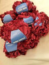 """filato fantasia """"Rabat"""" lotto 8 gomitoli colore rosso ciliegia"""