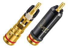 4 x WBT-0102 Cu nextgen Cinchstecker + TORX RCA connectors 0102Cu bis 9mm
