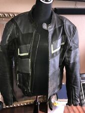 AGV Made in Italy Leather Sports Jacket Size 44