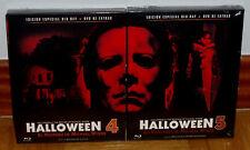 HALLOWEEN 4 Y 5 EDICIONES ESPECIALES BLU-RAY+DVD NUEVO PRECINTADO (SIN ABRIR) R2