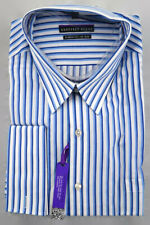 Geoffrey Beene Dress Shirt Mens 18.5 34/35 Classic Fit Non Iron French Cuff NWT