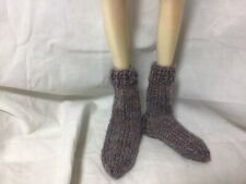 Bjd-Msd 1/4~ Pair Of Variegated Purple Short Bulky Socks~Never Used!