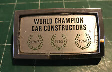 Chrome Metal Lotus World Champion Car Constructors '63 '65 '68 w Base and Clips