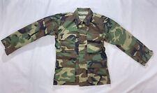 VTG Military Army Woodland Camouflage Cotton Jacket Coat Combat X-small Short