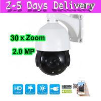30X Optical Zoom HD 1080P 2MP CCTV PTZ IP Camera Outdoor Pan Tilt Onvif IR-cut