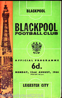 1966/67 BLACKPOOL V LEICESTER CITY 22-08-1966 Division 1