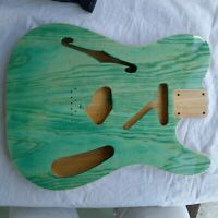 Tele Telecaster Thinline Style Semi Hollow Body 2pcs Alder Swamp Ash Max.3.6Ibs