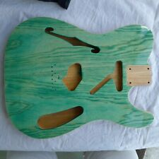 Tele Telecaster Thinline Style Semi Hollow Body 2pcs Alder Swamp Ash Poly Green
