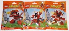 Lego Mixels Series 4 INFERNITES tribe: Meltus Flamzer Burnard red complete set
