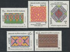 LAOS N°871/875** Art Lao, Pochoirs, 1988 Decorative Stencils Sc#890-894 MNH