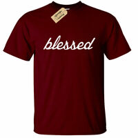 Mens Blessed Graphic Tee Greatful Religious christian tee christianity T Shirt