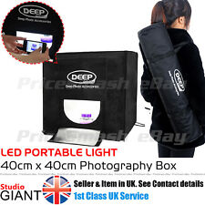 PROFESSIONAL PHOTO STUDIO KIT LED 40CM LIGHT BOX CUBE TENT PORTABLE PHOTOGRAPHY