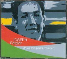 Joseph Fargier - Je Voulais Parler D' Amour 2 Tracks (Gabin) Cd Perfetto