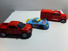 MAISTO Lot of 3 Fire Truck, Tonka race and Ford F150 Raptor 1:64