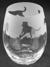 More details for rottweiler frieze boxed 36cl crystal stemless wine / water glass