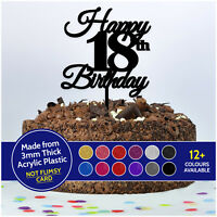 Custom Happy Birthday Cake Topper PERSONALISED ANY AGE 18th 21st 30th 40th 50th