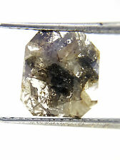 Very Big 1.67TCW Salt Pepper Square African Faceted Slice Loose Natural Diamond