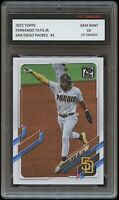 FERNANDO TATIS JR. 2021 TOPPS 1ST GRADED 10 SERIES 1 BASEBALL CARD MLB SD PADRES