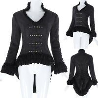 Women Gothic Victorian Jacquard Steampunk Corset Vintage Style Party Jacket Coat