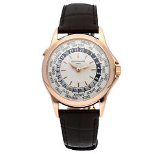 Patek Philippe World Time 5110 18K Rose Gold Mens Watch Box/Papers 5110R