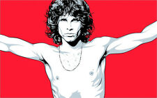 """3.25"""" vintage style JIM MORRISON Sticker / Decal. THE DOORS glass pipe bong 420"""