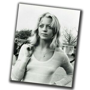 Goldie Hawn Retro Rare Photo Glossy Big Size 8X10in ε040