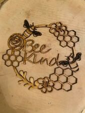 Mdf Bee Kind circle, Ready To Decorate,Laser craft