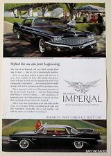 Imperial Custom Four Door Southampton  1960 Magazine Print Ad 7 x 10