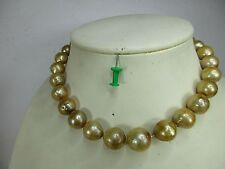 Gold - NATUR ! Seltene  Perlenkette Perle 1,8 cm groß  original - NICHT GEFÄRBT