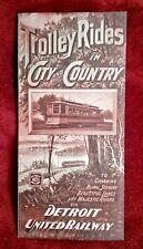 Detroit United Railway Interurban Lines Brochure - c 1910 - Near Mint