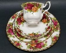 "Royal Albert Old Country Roses 4pc Luncheon Set 8"" Plate Tea Cup & Saucer Bread"