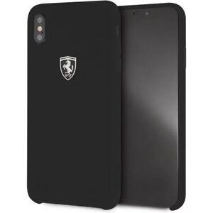 Genuine Ferrari Scuderia Hard Silicone Case for iPhone XS Max in Black