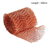 100% T2 Copper Mesh Roll 100x10cm Moonshine Still Packing Pest Control 1 Roll