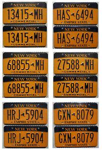 -2- New York USA Nummernschilder Auswahl PAAR Kennzeichen US License Plates Pair