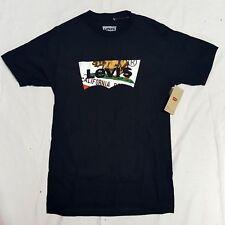 Levi's California Bear Flag Logo T-Shirt BLACK 100% Cotton Men's Size M Medium
