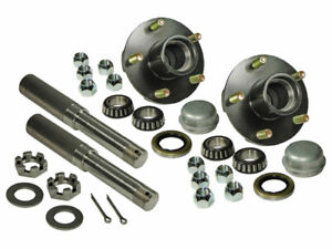 """Pair of 5-Bolt On 4-1/2"""" Hub & 1-1/16"""" Straight Spindle Assembly"""