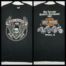 Harley-Davidson Sleeveless Big Swamp Opelika AL Black T-Shirt Sz L (X)
